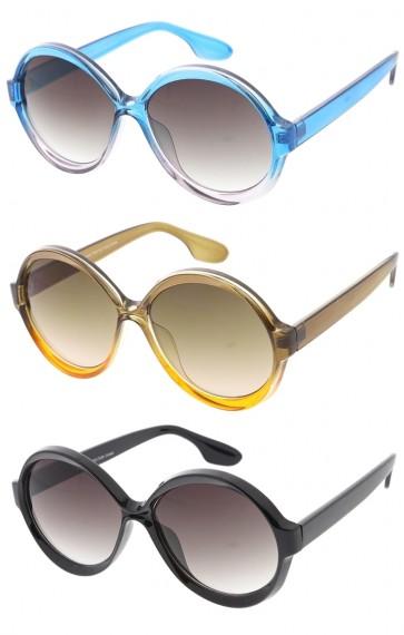 Round Bold Translucent Colorful Wholesale Sunglasses