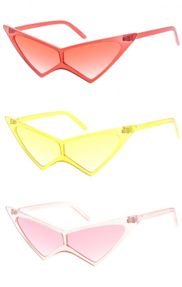 Retro High Pointed Cat Eye Color Tinted Wholesale Sunglasses