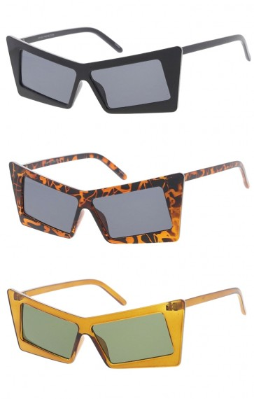 Retro Rectangle Cat Eye Wholesale Sunglasses