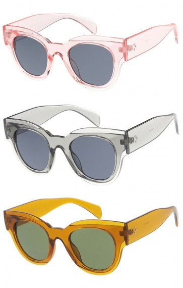 Chunky Round Horn Rimmed Wholesale Sunglasses
