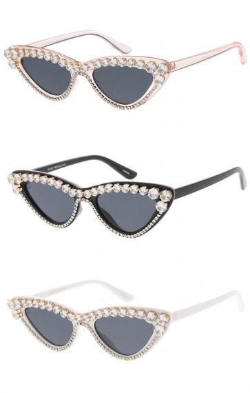 Women's Retro Rhinestone Cat Eye Wholesale Sunglasses