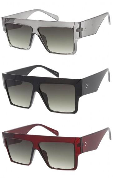 Oversized Flat Top Horn Rimmed Wholesale Sunglasses