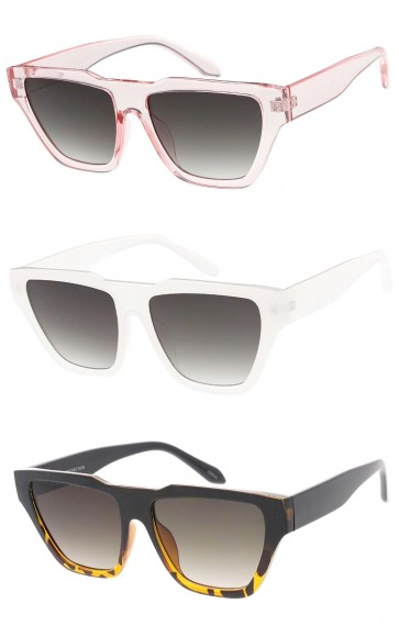 Chunky Fashion Horn Rimmed Womens Wholesale Sunglasses