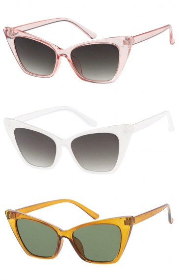 Womens Vintage Inspired Square Cat Eye Wholesale Sunglasses