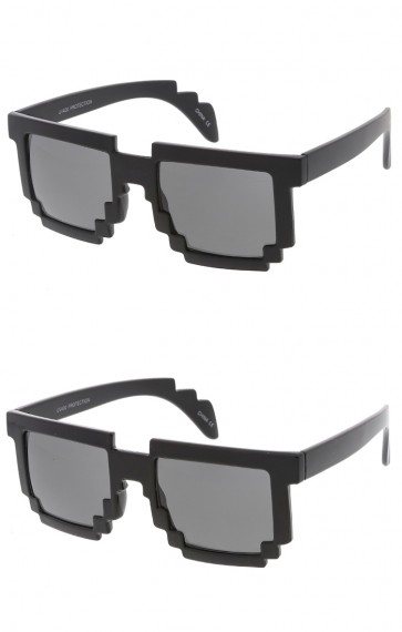 8 Bit Pixel Novelty Wholesale Sunglasses