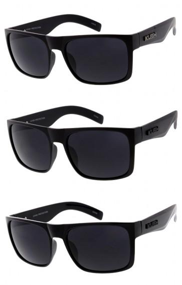 Men's KUSH Flat Top Horn Rimmed Wide Arm Wholesale Sunglasses