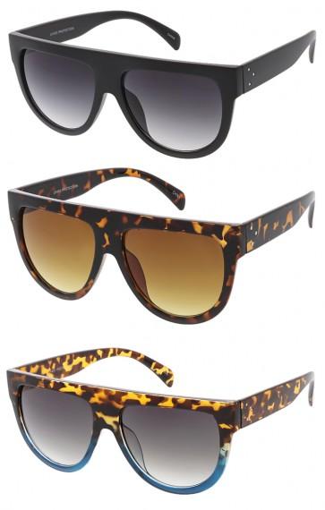 d8c96f7d3 Oversized Flat Top Teardrop Frame Aviator Wholesale Sunglasses