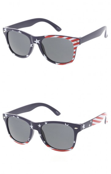 Kids Festival USA Stars & Stripes Smoke Lens Wholesale Sunglasses