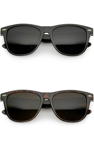 Classic Horn Rimmed Shiny Frame Super Dark Lens Wholesale Sunglasses