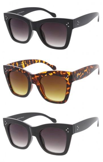 Chunky Oversize Horn Rimmed Cat Eye Wholesale Sunglasses