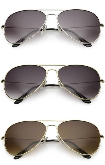 Large Classic Metal Frame Aviator Gradient Lens Wholesale Sunglasses