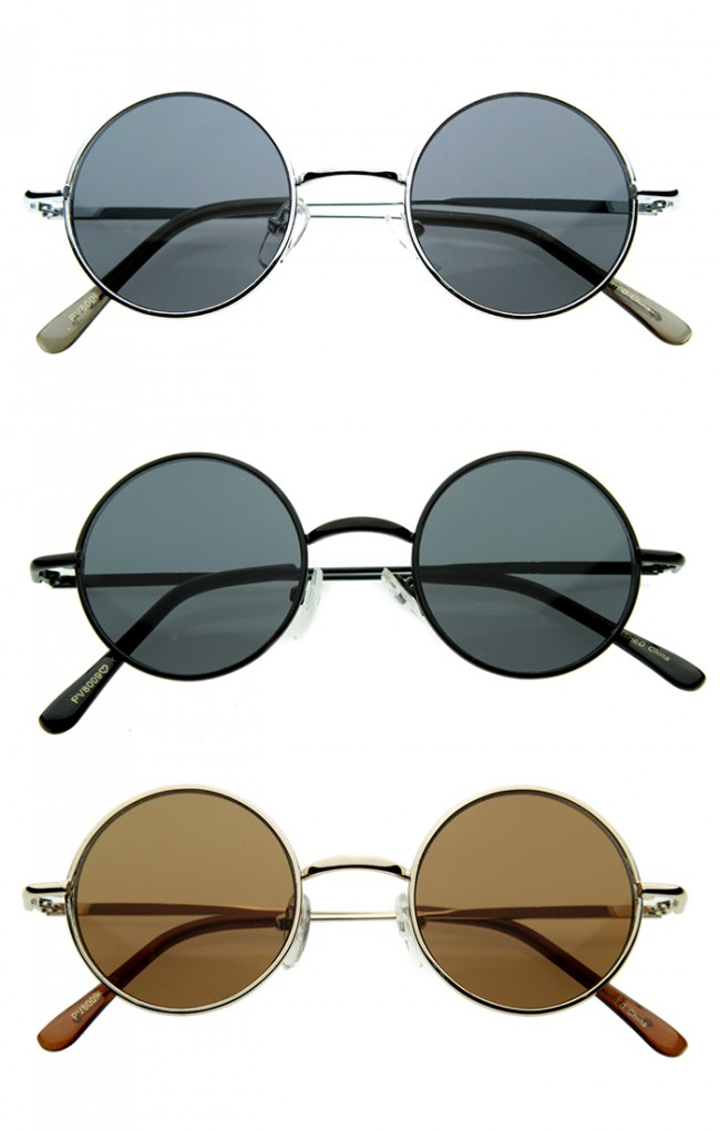 da14d6e8efb Small Retro-Vintage Style Lennon Inspired Round Metal Circle Sunglasses ·  Zoom