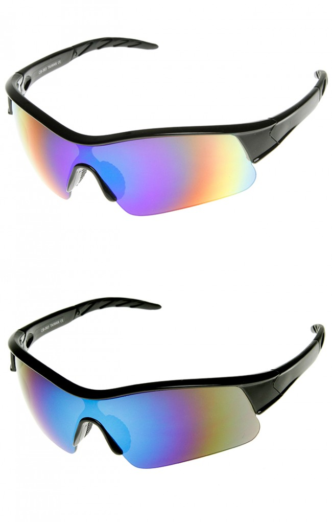 X Hunter Brand Semi Rimless Flash Mirror Lens Sports ...