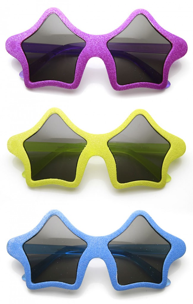 7bef8c54441 Star Shape Colorful Fun Novelty Party Glitter Superstar Sunglasses