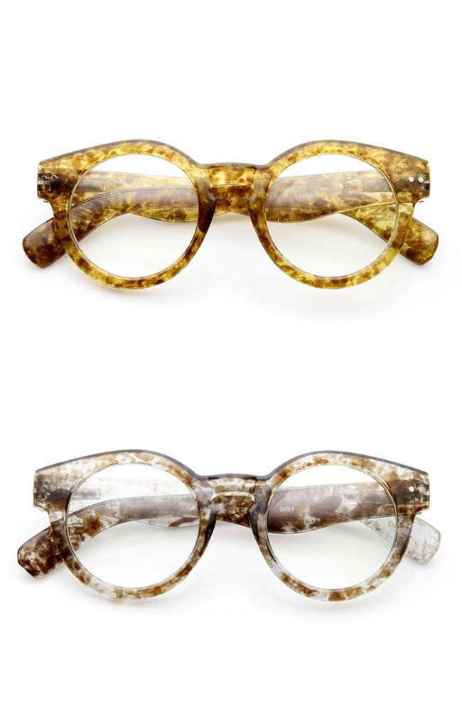 Eyeglasses Frame Too Small : Retro Eyeglasses Small Keyhole Bold Frame Clear Lens Round ...