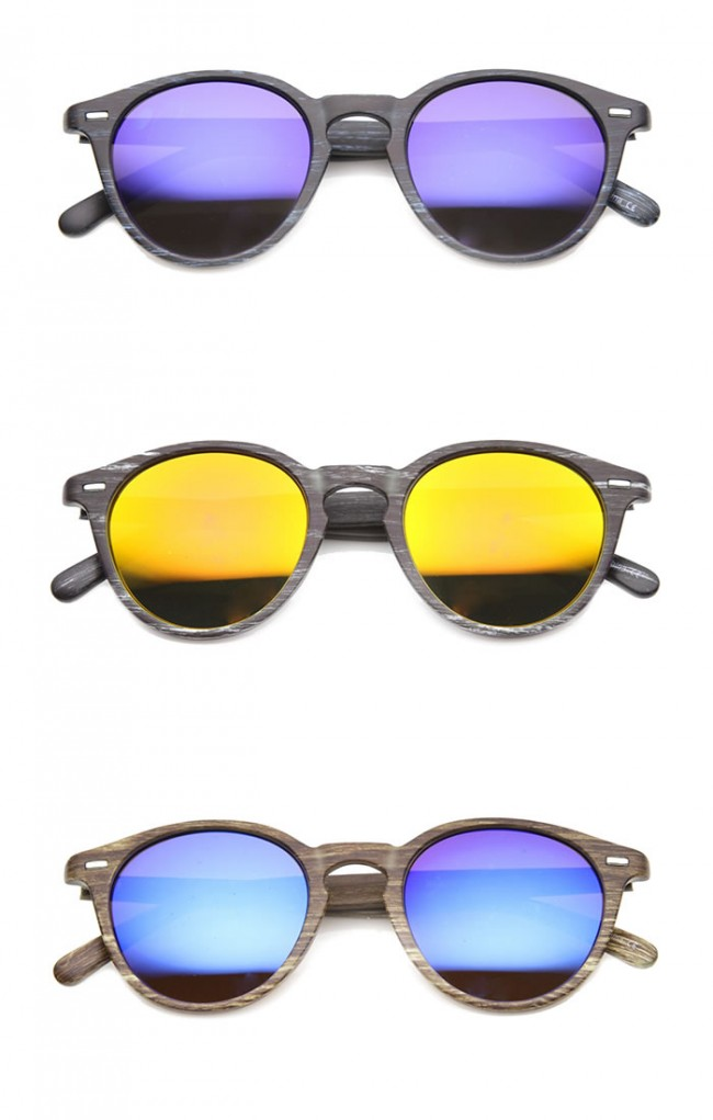 bf53a471d8 Mens Horn Rimmed Sunglasses With UV400 Protected Mirrored Lens. Zoom
