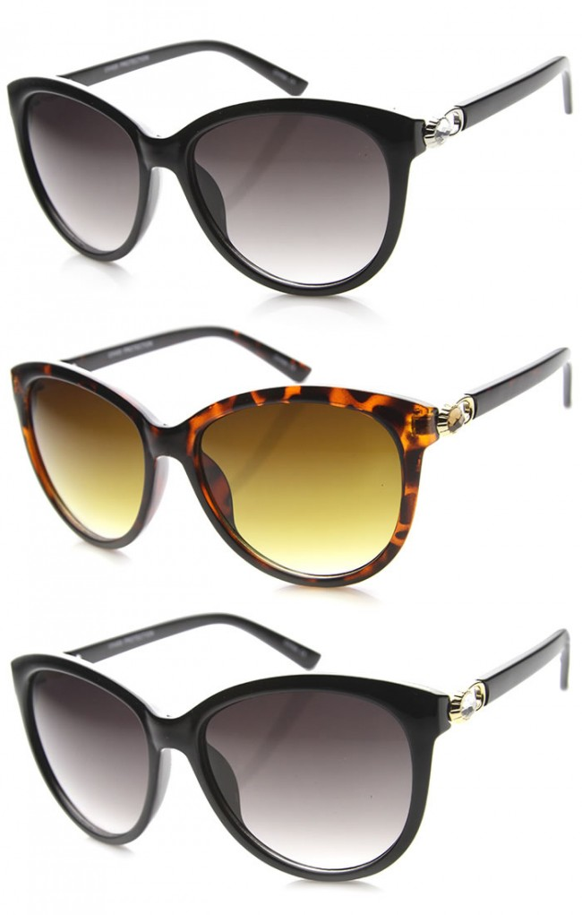 383f2a0127 Womens Semi-Rimless Sunglasses With UV400 Protected Gradient Lens. Zoom
