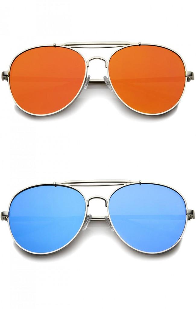 bf7857136889 Bold Metal Full Metal Side Cover Frame Crossbar Mirrored Flat Lens ...