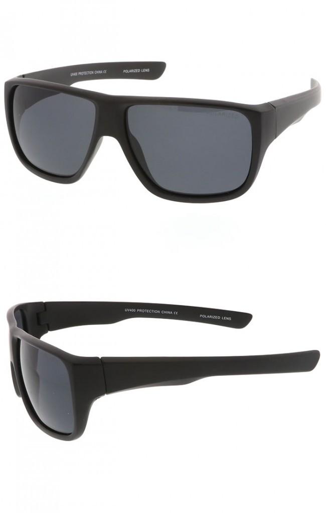 f3844361eb16f Men s Oversize Flat Top Wide Temple Polarized Lens Square Sunglasses 62mm ·  Zoom
