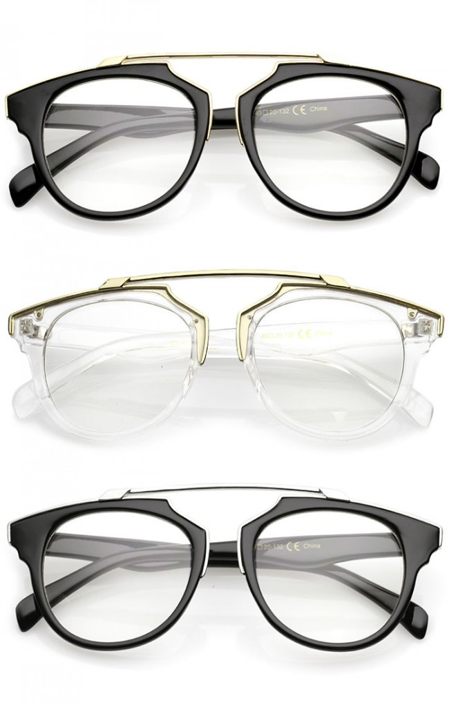Clear Horn Rimmed Glasses