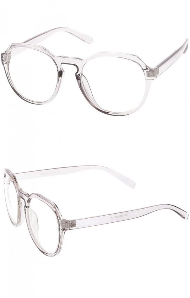 Glasses Frames With Keyhole Bridge : Modern Keyhole Nose Bridge Clear Lens Round Eyeglasses 55mm