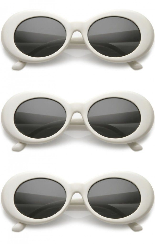 20dc501dac5 White Oval Sunglasses Wholesale (Clout Goggles) · Zoom