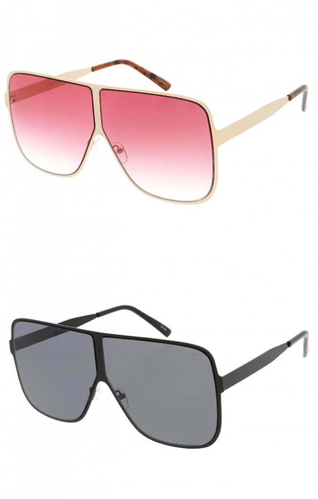 Oversized Square Metal Frame Wholesale Sunglasses