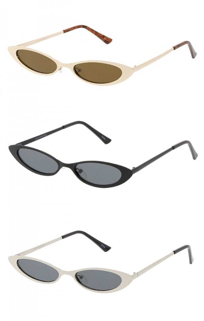 Small Metal Frame Cat Eye Womens Wholesale Sunglasses