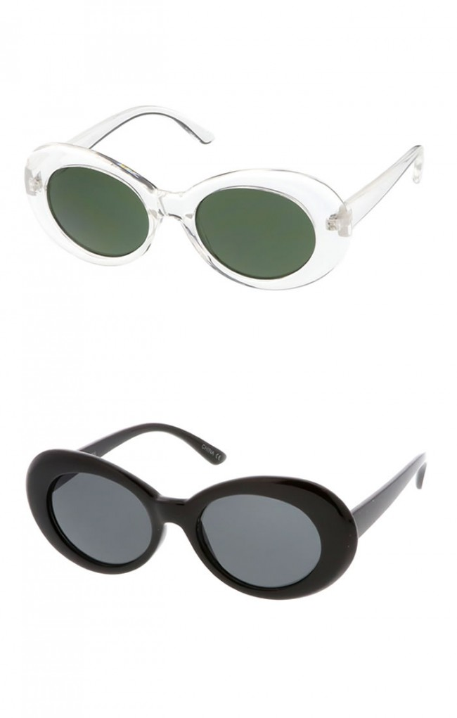 0625bab74d4ab Bold Retro Oval Mod Thick Frame Clout Goggles with Round Lens Wholesale  Sunglasses. Zoom