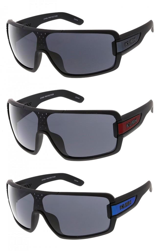 b2055406c71 Oversized Sport Wrap Around Lens Kush Matte Wholesale Sunglasses · Zoom