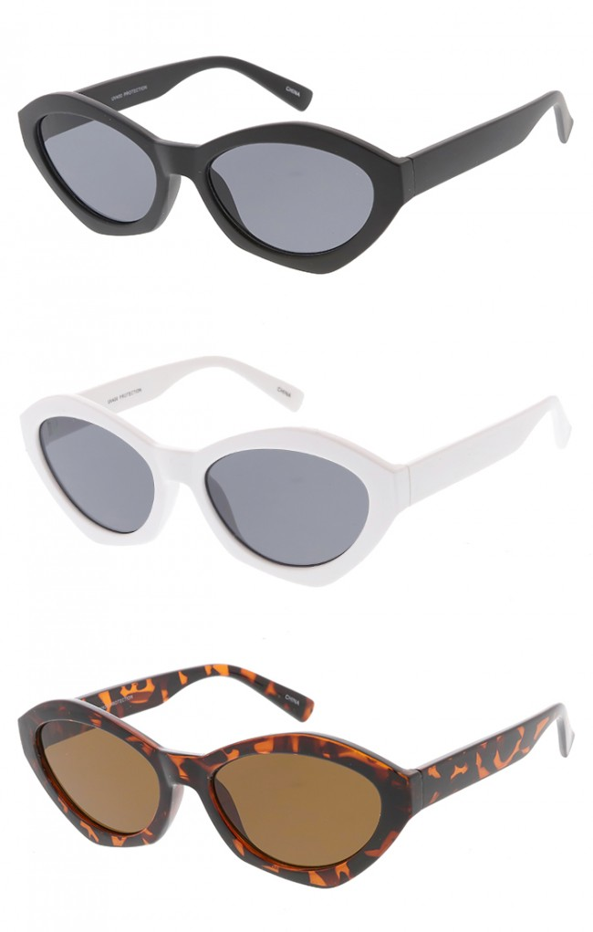 c63c4b512 Thick Oval Cat eye Wholesale Womens Sunglasses. Zoom