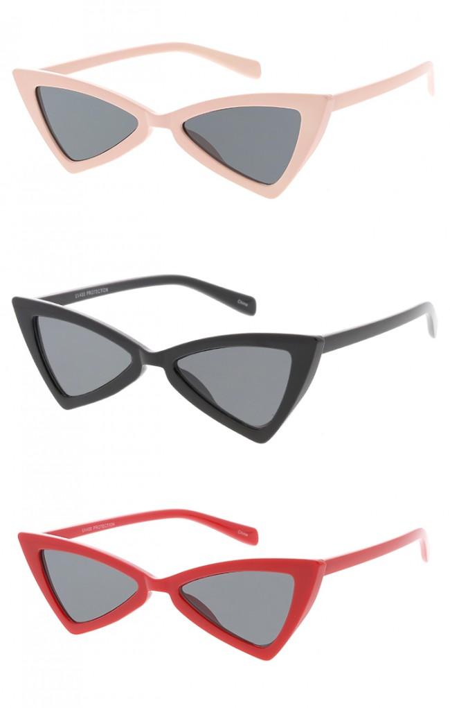 cbb2c7176f Plastic Triangle Cat eye Womens Wholesale Sunglasses. Zoom