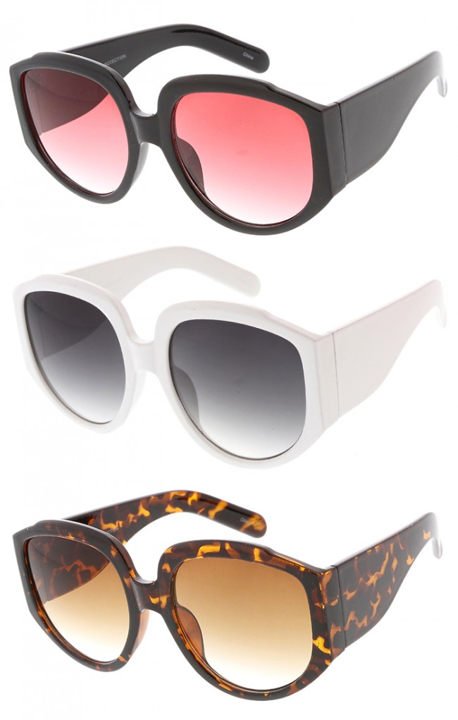 7b53ecedd0 Oversized Chunky Wide Arm Womens Wholesale Sunglasses · Zoom