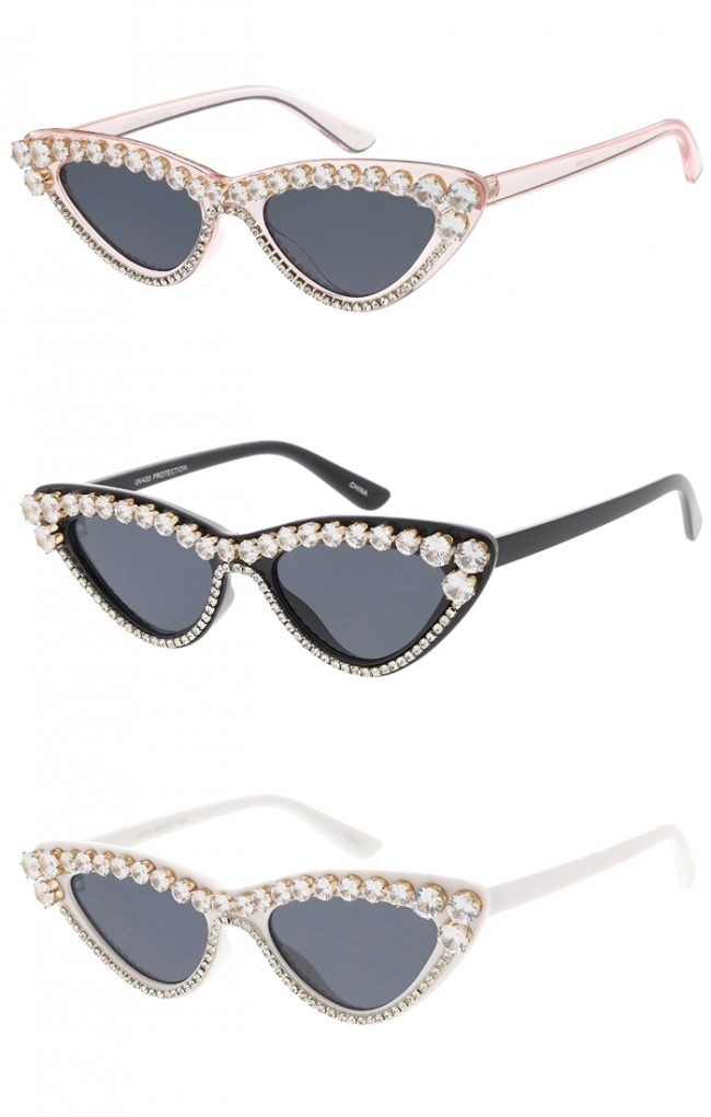 2a1c8ec77d9 Women s Retro Rhinestone Cat Eye Wholesale Sunglasses · Zoom