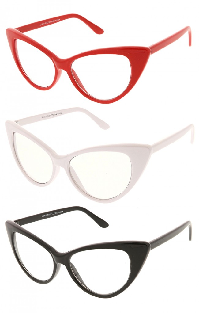 885f8cd599 Womens Designer Retro Cat Eye Fashion Clear Lens Wholesale Sunglasses · Zoom