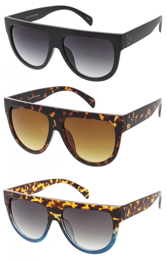 Oversized Flat Top Teardrop Frame Aviator Wholesale Sunglasses