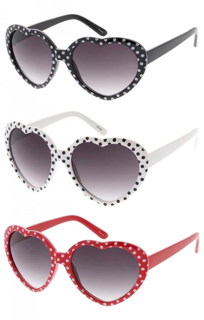 46ec8b2a8 Kids Classic Heart Shaped Sunglasses w/ Polka Dots Wholesale. Zoom