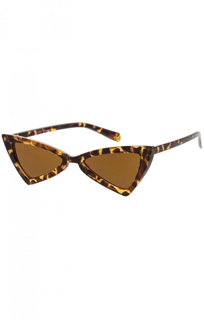 c37a92141fe Women s Thin Extreme Cat Eye Sunglasses Neutral Colored Flat Lens Wholesale  Sunglasses · Zoom