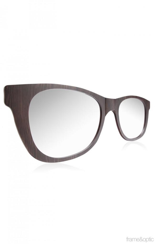 c2846b4c3b Oversized Retro Sunglasses Mirror-03 Wall Mirror - Dark Walnut. Zoom