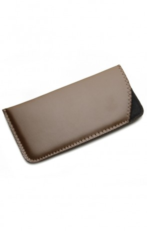 Vinyl Slip Eyewear Case (Brown)