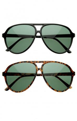 Vintage Inspired Classic Tear Drop Plastic Aviator Sunglasses