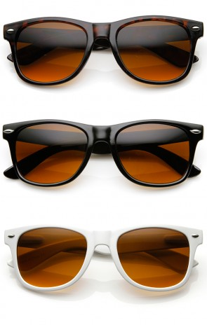 Blue Blocking Driving Horn Rimmed Sunglasses Amber Tinted Lens