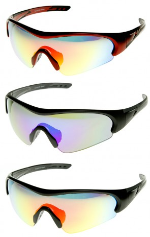 Action Sports TR90 Half Frame Flash Mirror Sports Sunglasses