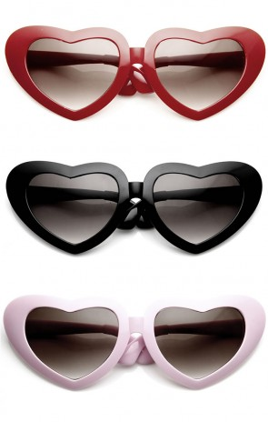 Super Oversized Large Novelty 9 Inch Wide Heart Shape Sunglasses