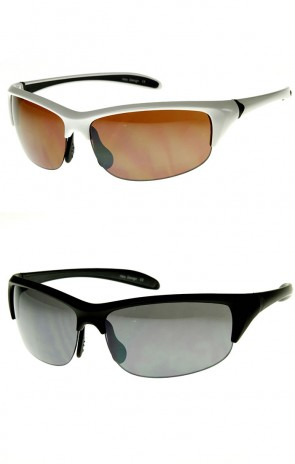 Lightweight Unisex Half Frame Semi-Rimless Sports Sunglasses