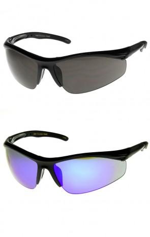High Quality Semi-Rimless Running Cycling Sports Wrap Sunglasses