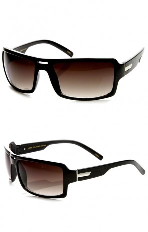 Action Sports Modified Rectangular Sports Wrap Sunglasses