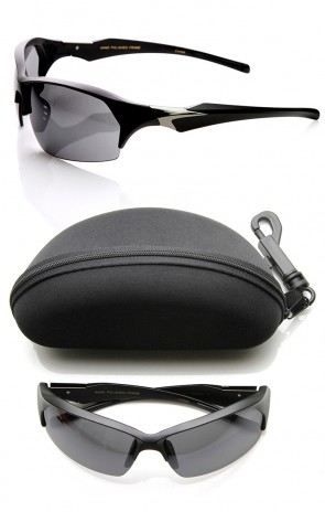 High Quality TR-90 Half Frame Semi-Rimless Sports Sunglasses