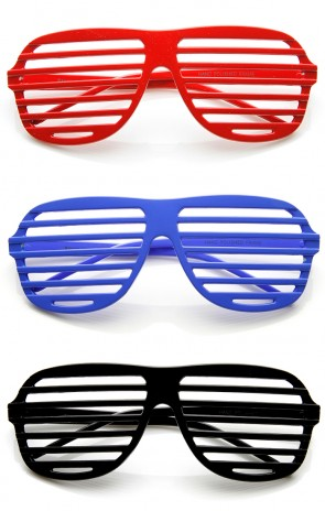 Shutter Shades Venetian Blind Stronger Kanye Novelty Glasses
