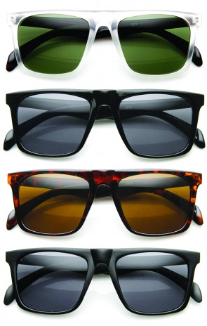 Casual Fashion Square Frame Flat Top Aviator Sunglasses